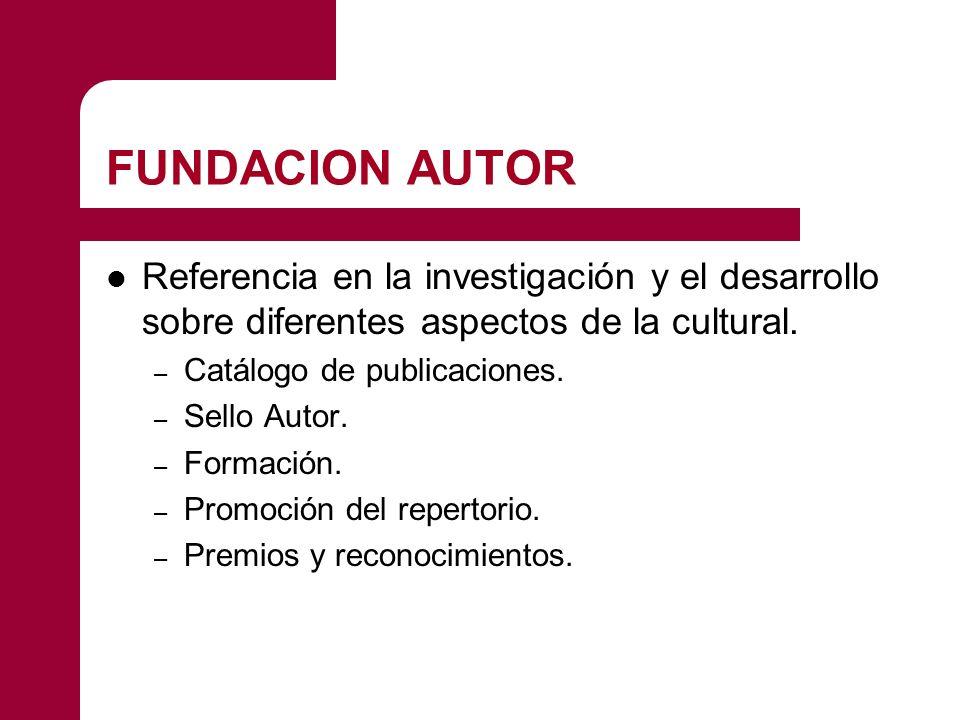 FUNDACION AUTOR Referencia en la investigación y el desarrollo sobre diferentes aspectos de la cultural.