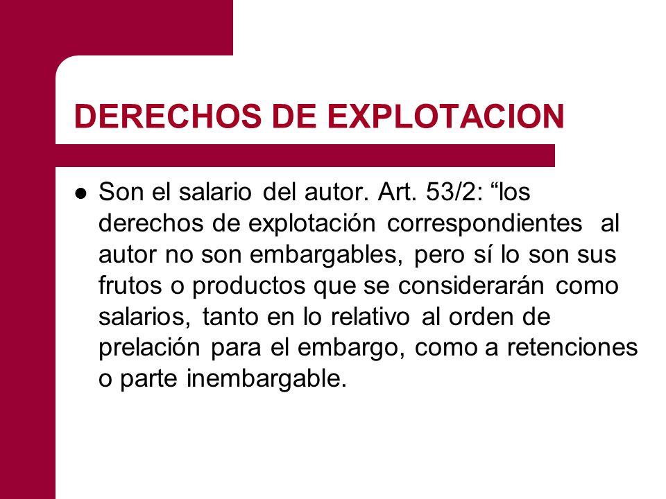 DERECHOS DE EXPLOTACION