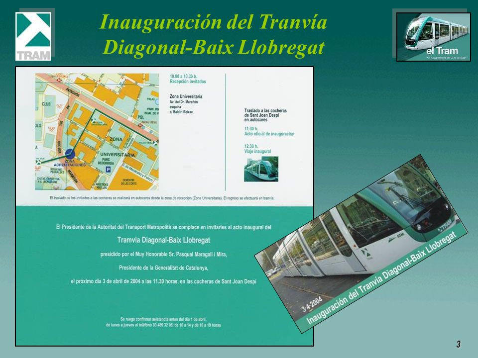 Inauguración del Tranvía Diagonal-Baix Llobregat