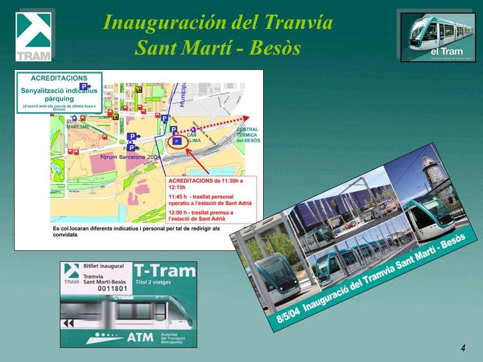 Inauguración del Tranvía Sant Martí - Besòs