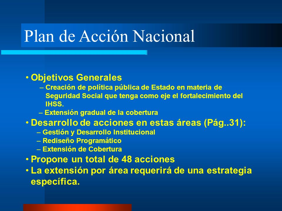 Plan de Acción Nacional