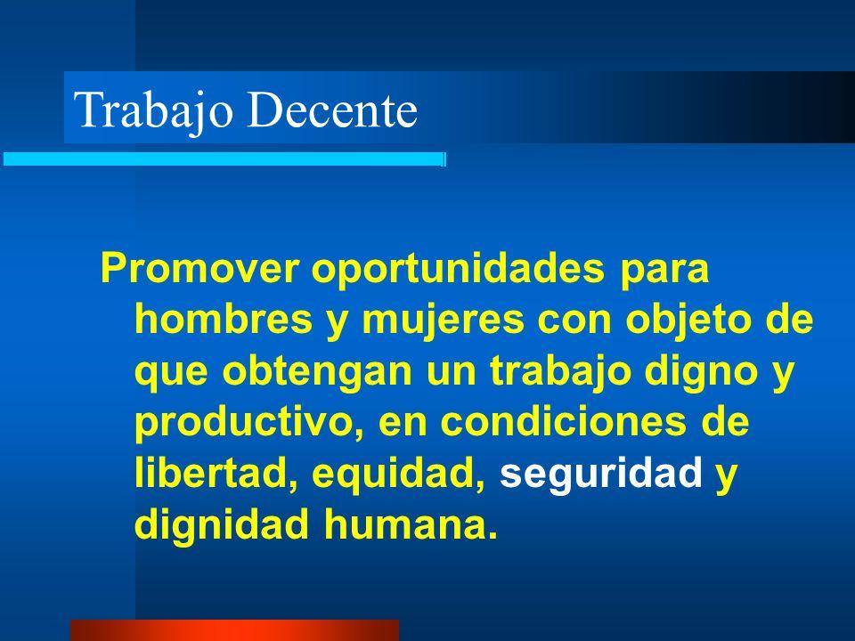 Trabajo Decente Promover oportunidades para