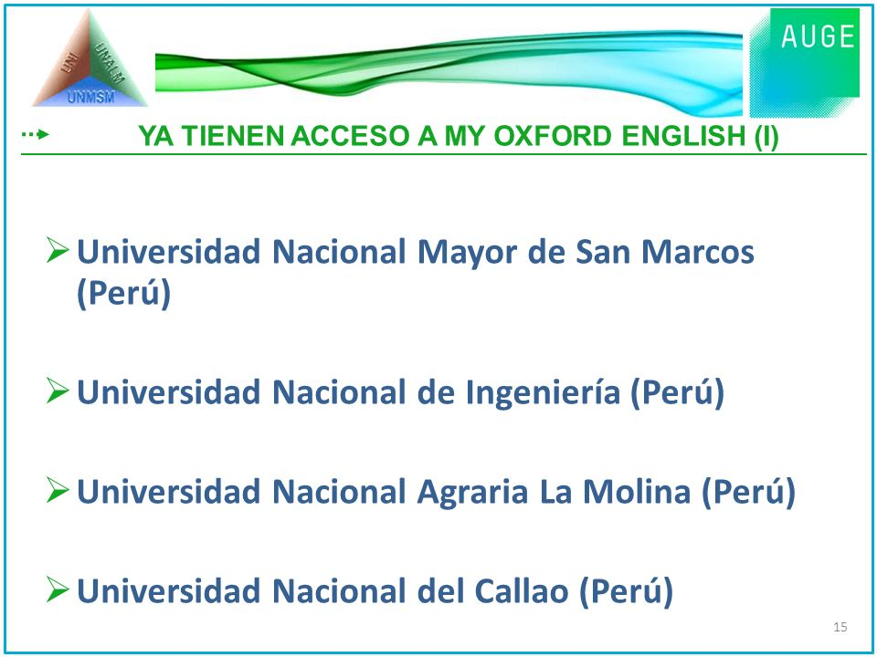 YA TIENEN ACCESO A MY OXFORD ENGLISH (I)