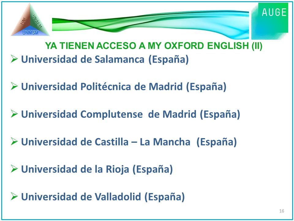 YA TIENEN ACCESO A MY OXFORD ENGLISH (II)