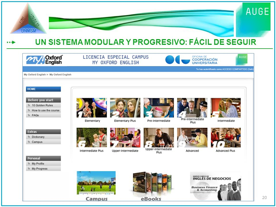 UN SISTEMA MODULAR Y PROGRESIVO: FÁCIL DE SEGUIR