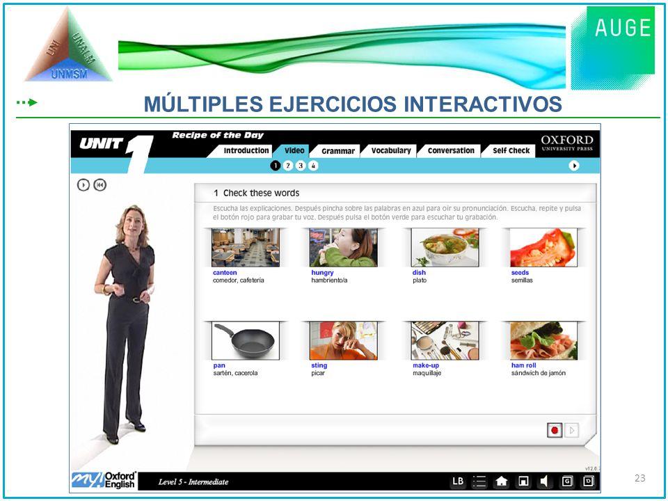 MÚLTIPLES EJERCICIOS INTERACTIVOS