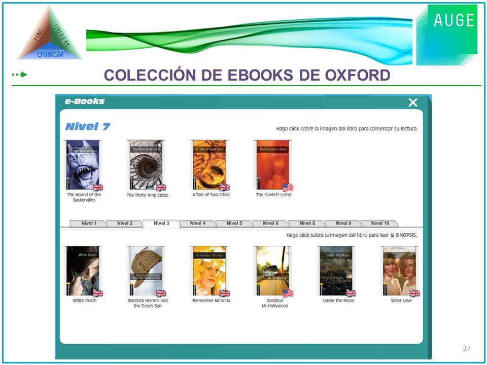 COLECCIÓN DE EBOOKS DE OXFORD