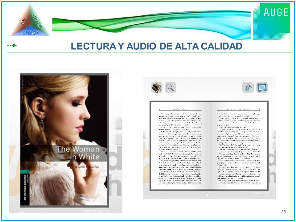 LECTURA Y AUDIO DE ALTA CALIDAD