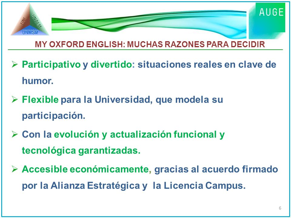 MY OXFORD ENGLISH: MUCHAS RAZONES PARA DECIDIR