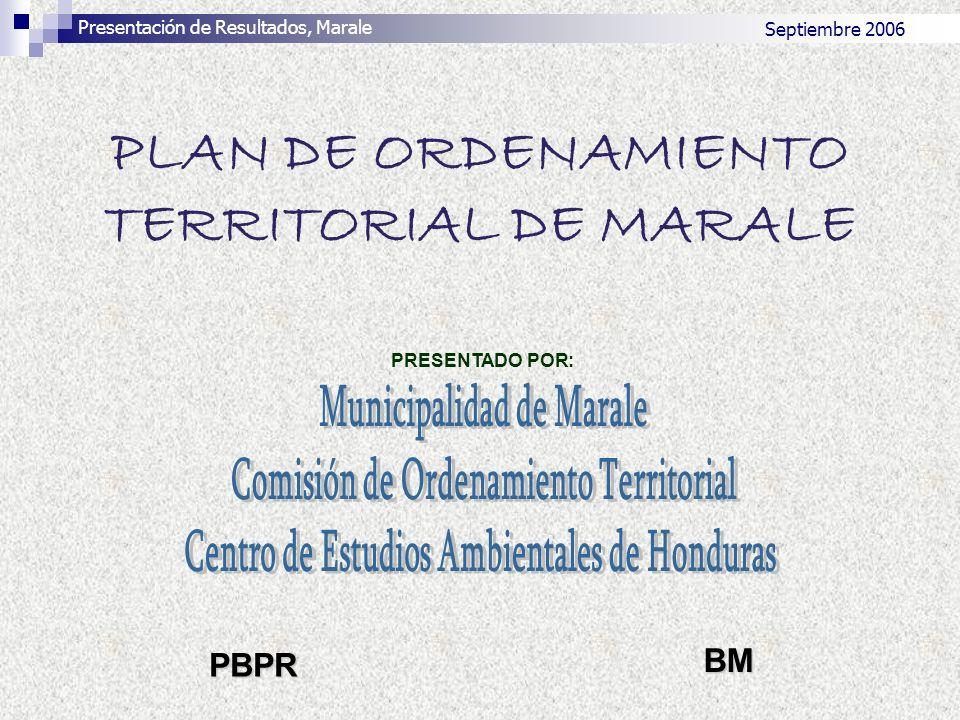 PLAN DE ORDENAMIENTO TERRITORIAL DE MARALE