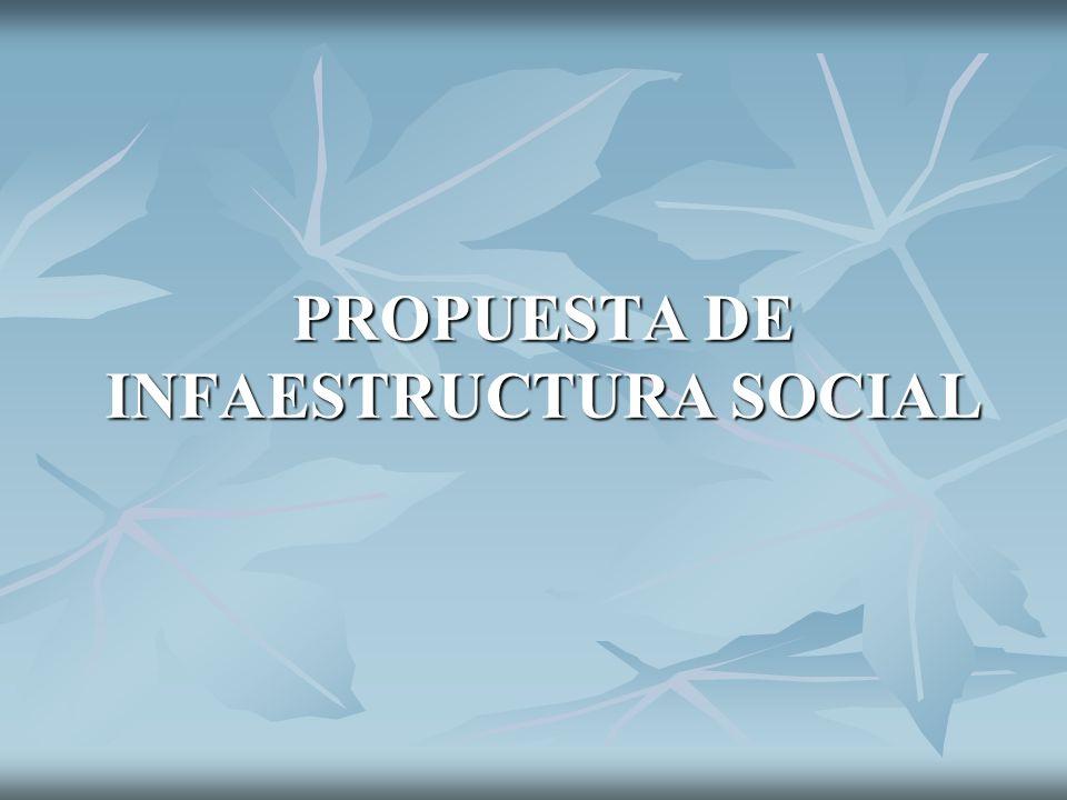PROPUESTA DE INFAESTRUCTURA SOCIAL