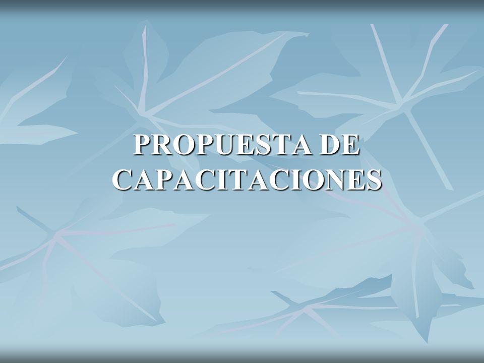 PROPUESTA DE CAPACITACIONES