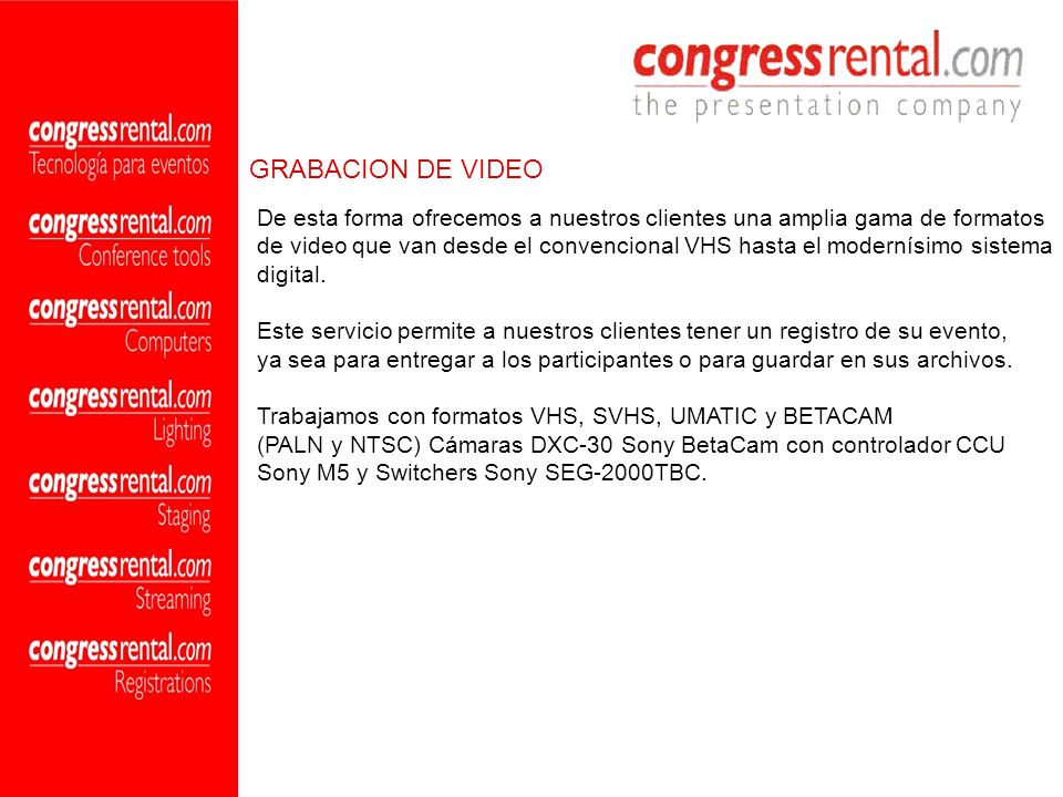 GRABACION DE VIDEO