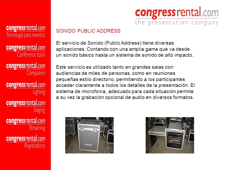 SONIDO PUBLIC ADDRESS