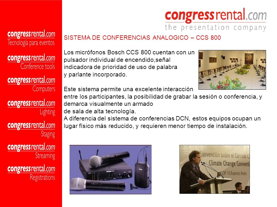 SISTEMA DE CONFERENCIAS ANALOGICO – CCS 800