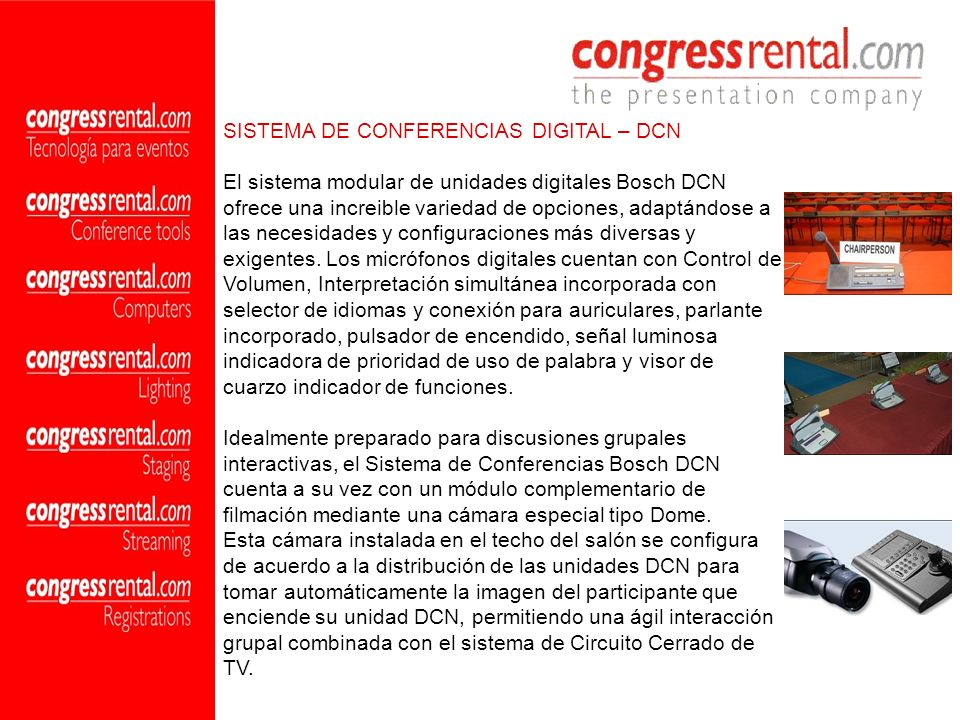 SISTEMA DE CONFERENCIAS DIGITAL – DCN