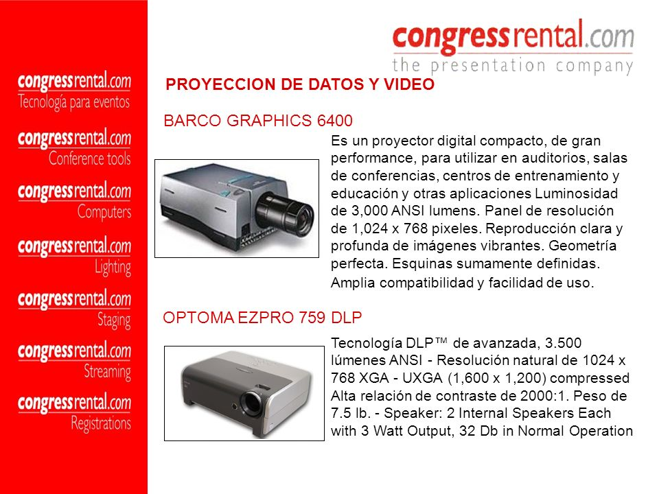 PROYECCION DE DATOS Y VIDEO