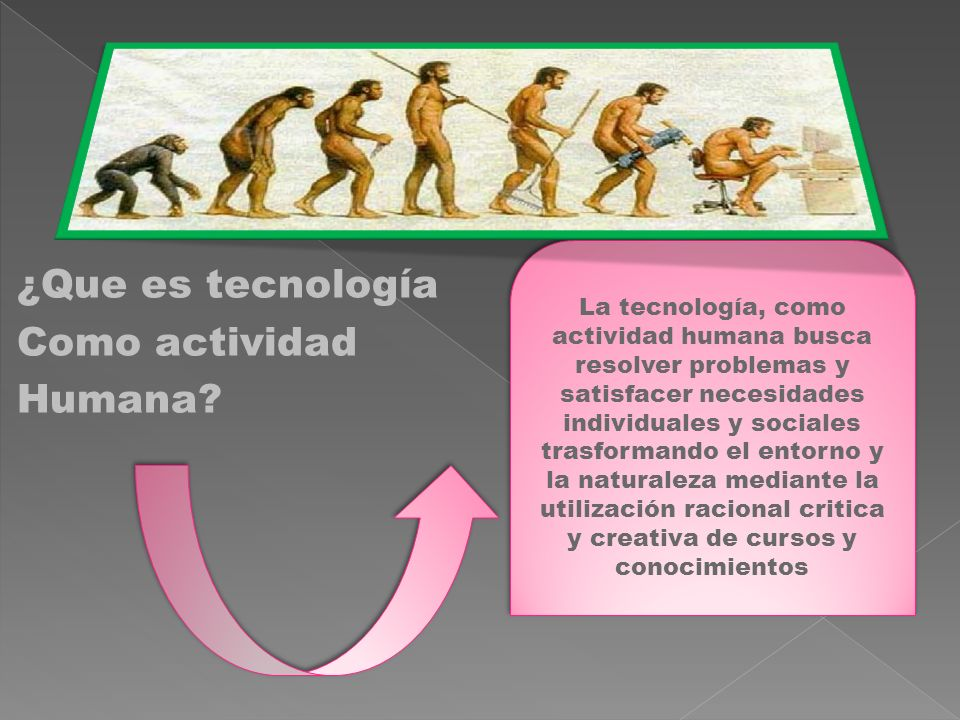 ¿Que es tecnología Como actividad Humana