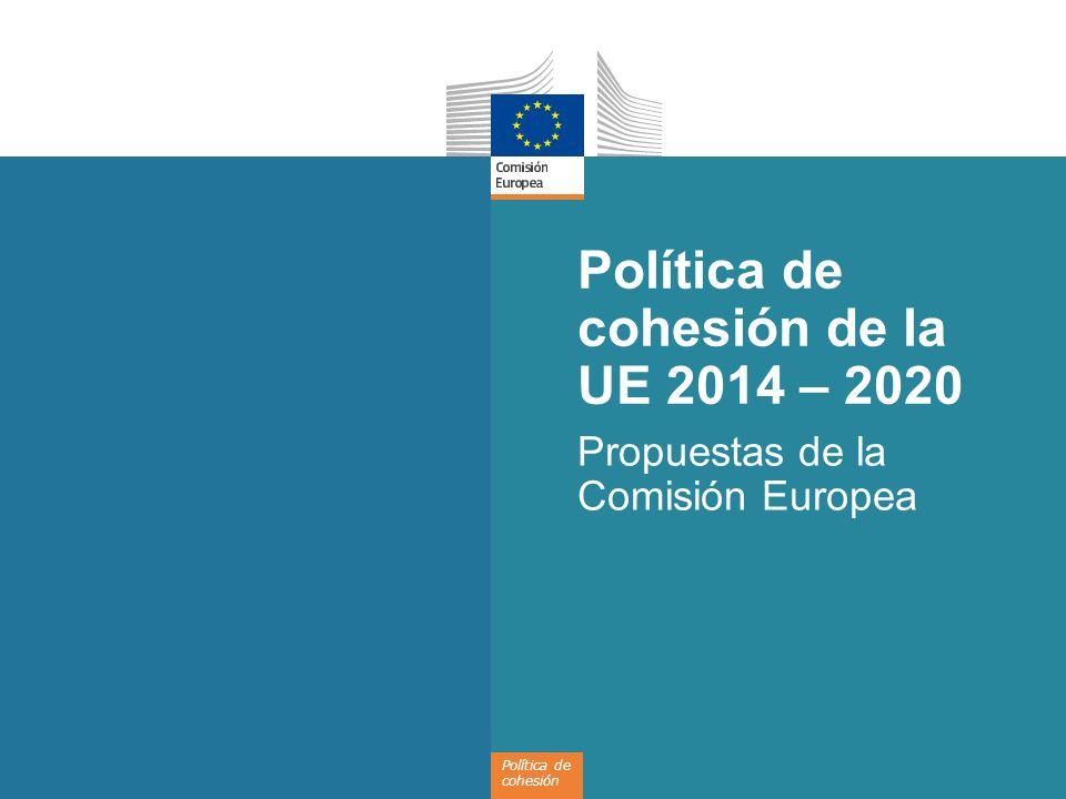Política de cohesión de la UE 2014 – 2020