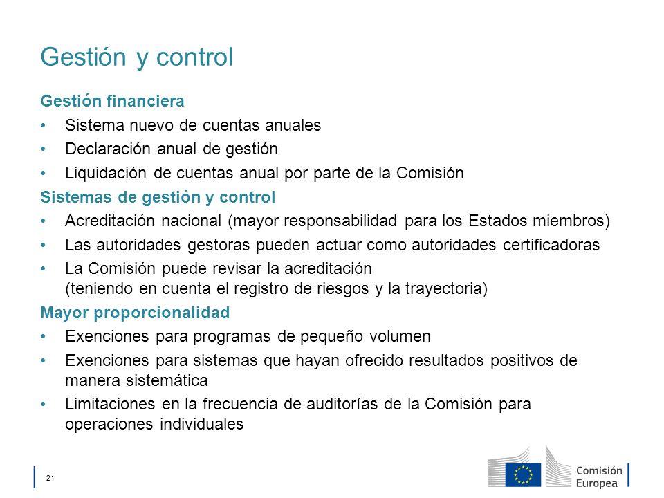 Gestión y control Gestión financiera Sistema nuevo de cuentas anuales