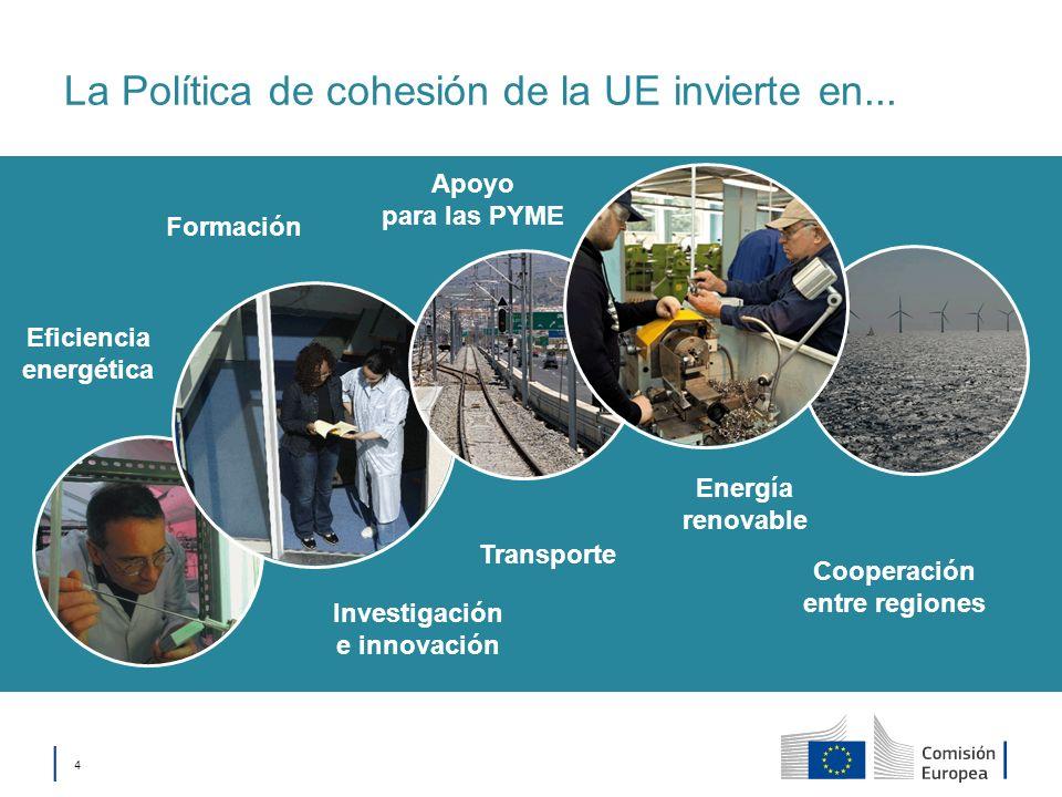 La Política de cohesión de la UE invierte en...