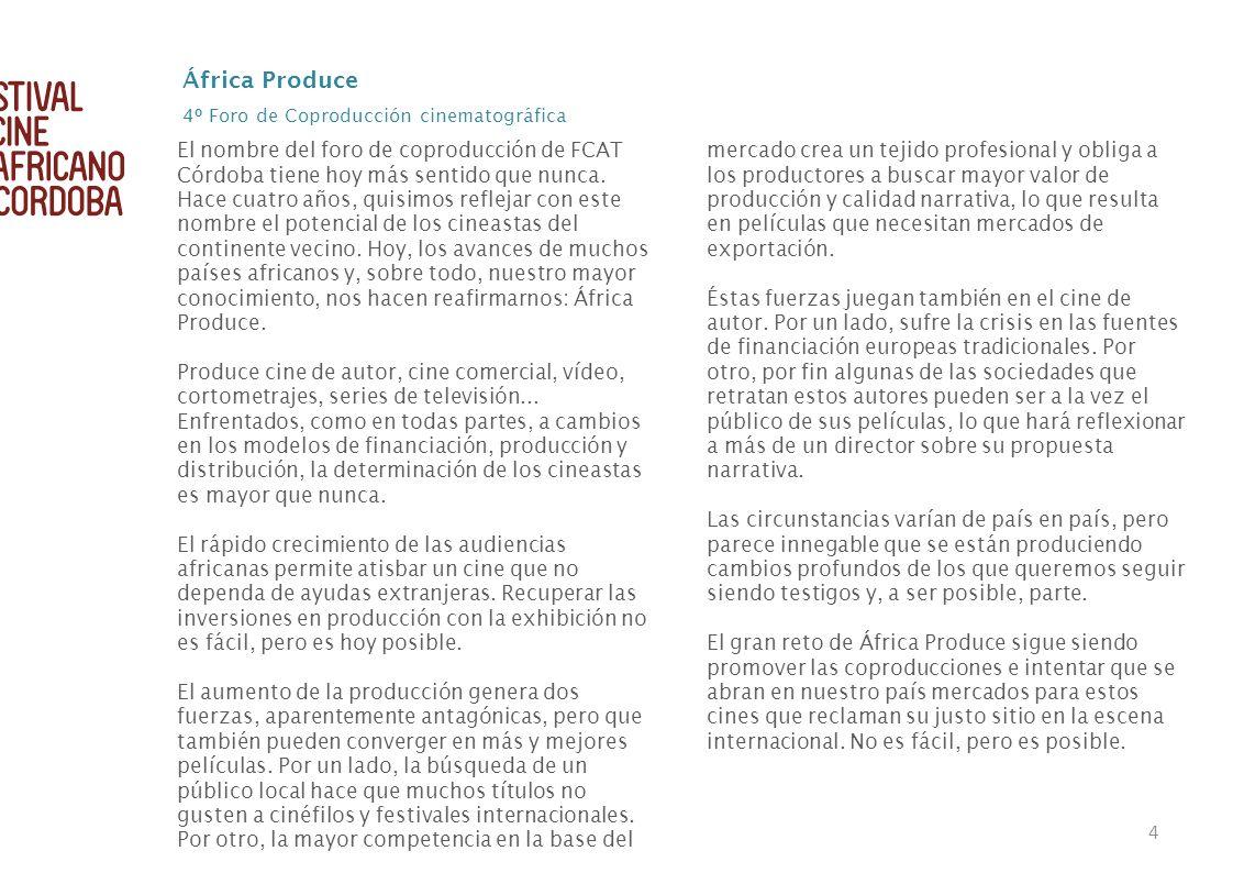 África Produce 4º Foro de Coproducción cinematográfica.