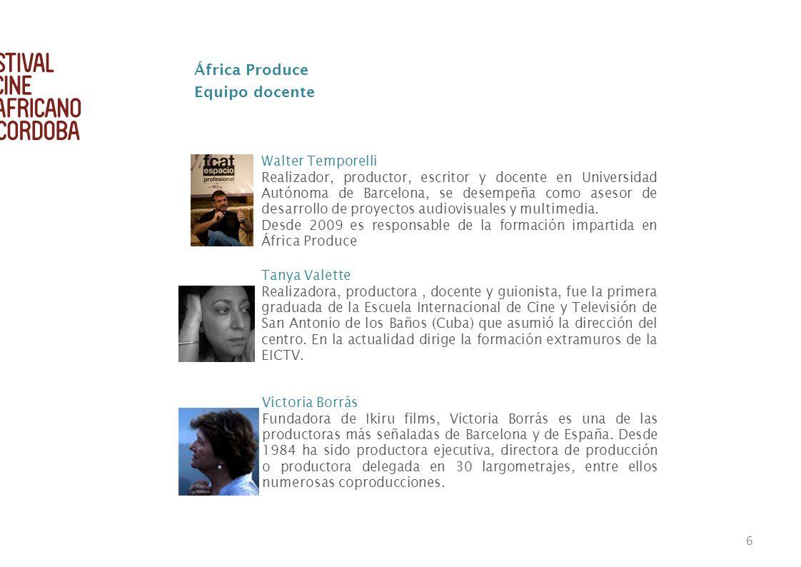 África Produce Equipo docente Walter Temporelli