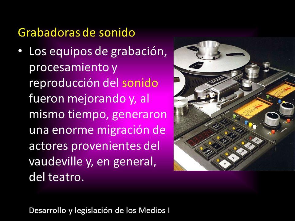 Grabadoras de sonido