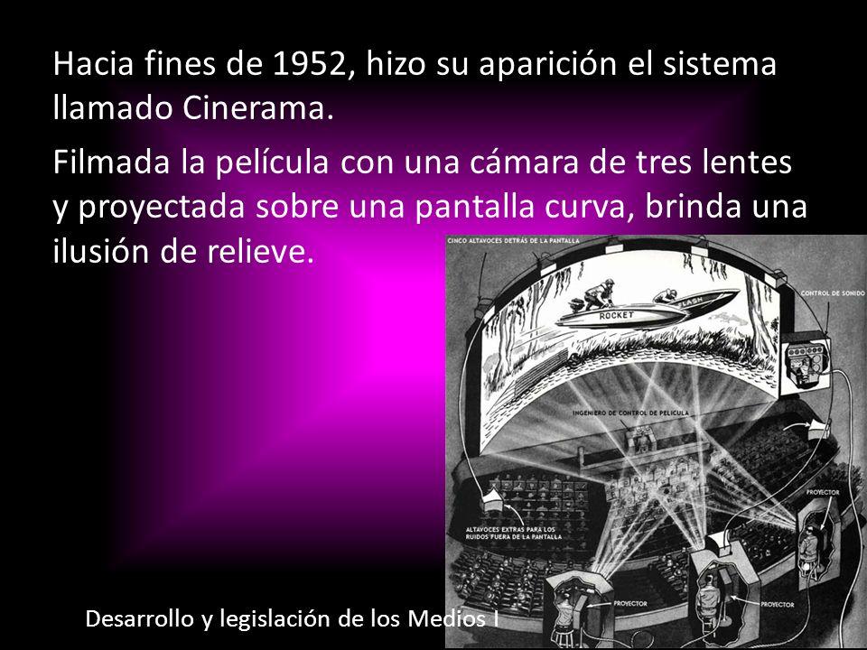 Hacia fines de 1952, hizo su aparición el sistema llamado Cinerama