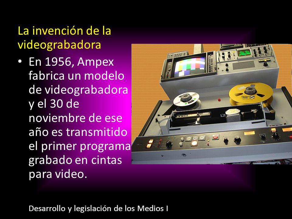 La invención de la videograbadora