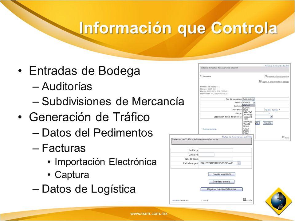 Información que Controla