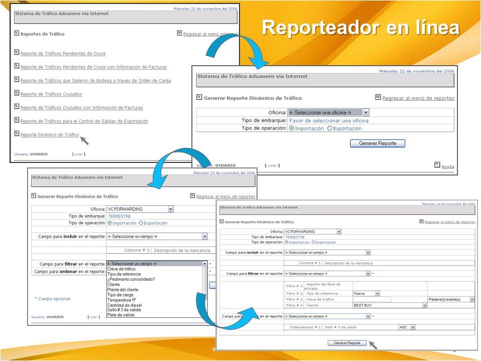 Reporteador en línea
