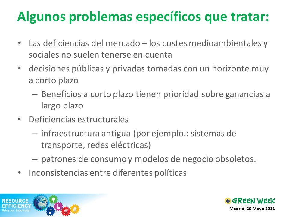Algunos problemas específicos que tratar:
