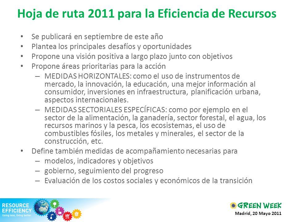 Hoja de ruta 2011 para la Eficiencia de Recursos