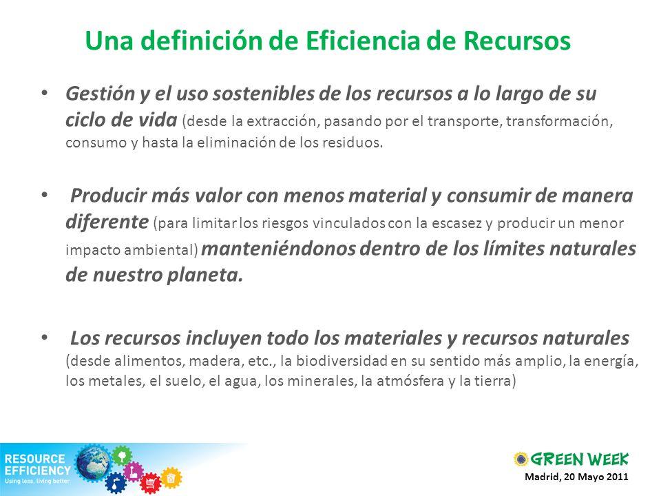 Una definición de Eficiencia de Recursos