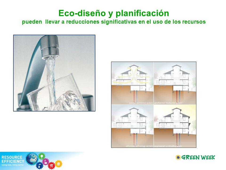 Eco-diseño y planificación pueden llevar a reducciones significativas en el uso de los recursos