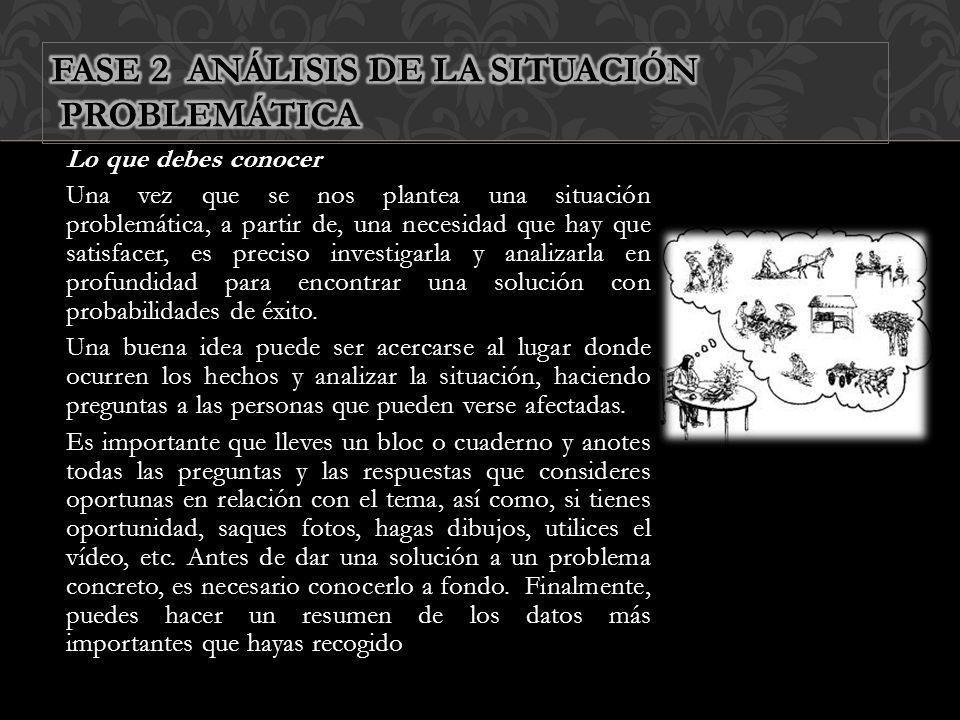 FASE 2 ANÁLISIS DE LA SITUACIÓN PROBLEMÁTICA