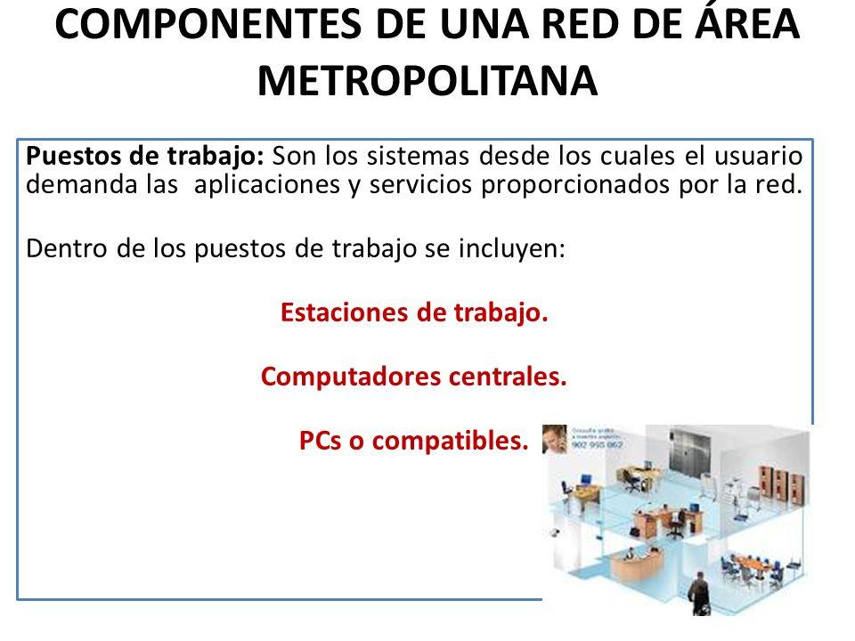 COMPONENTES DE UNA RED DE ÁREA METROPOLITANA