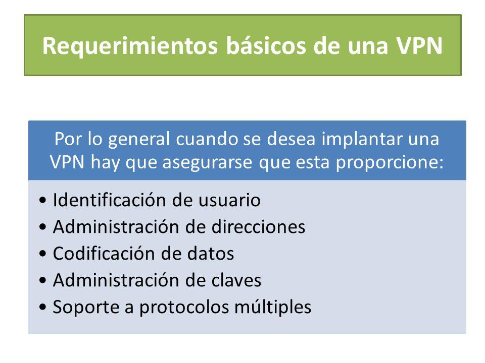 Requerimientos básicos de una VPN