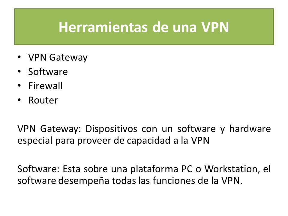 Herramientas de una VPN
