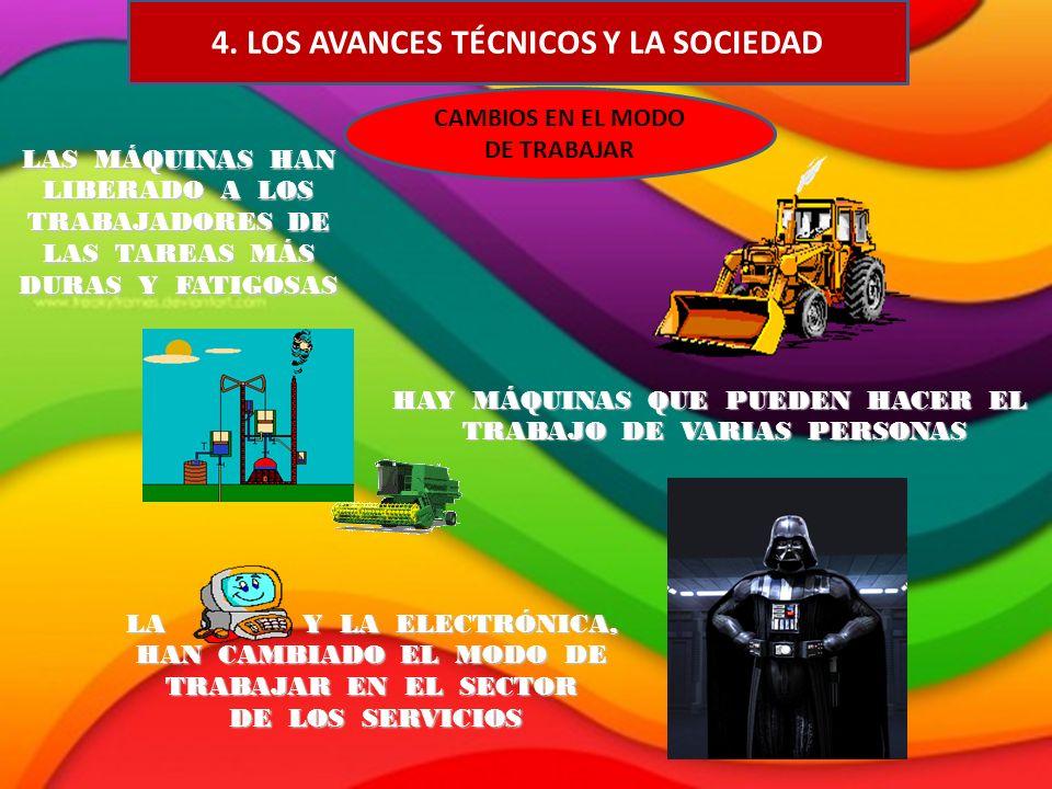4. LOS AVANCES TÉCNICOS Y LA SOCIEDAD