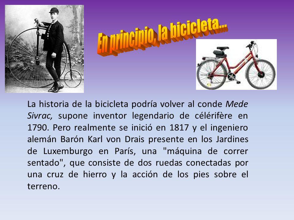 En principio, la bicicleta...