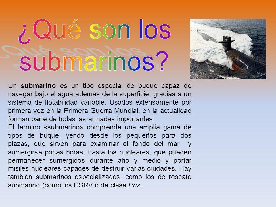 ¿Qué son los submarinos