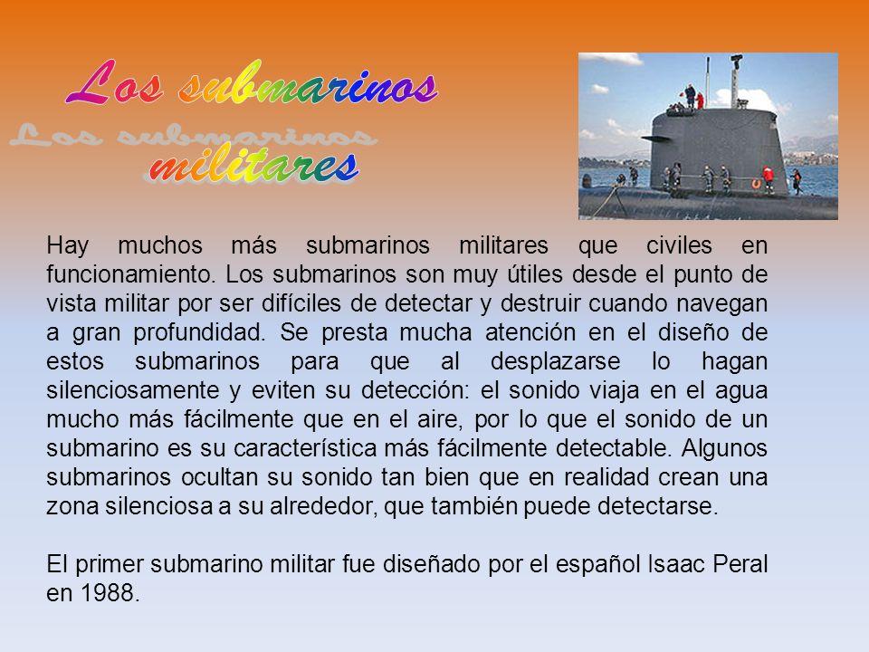 Los submarinos militares