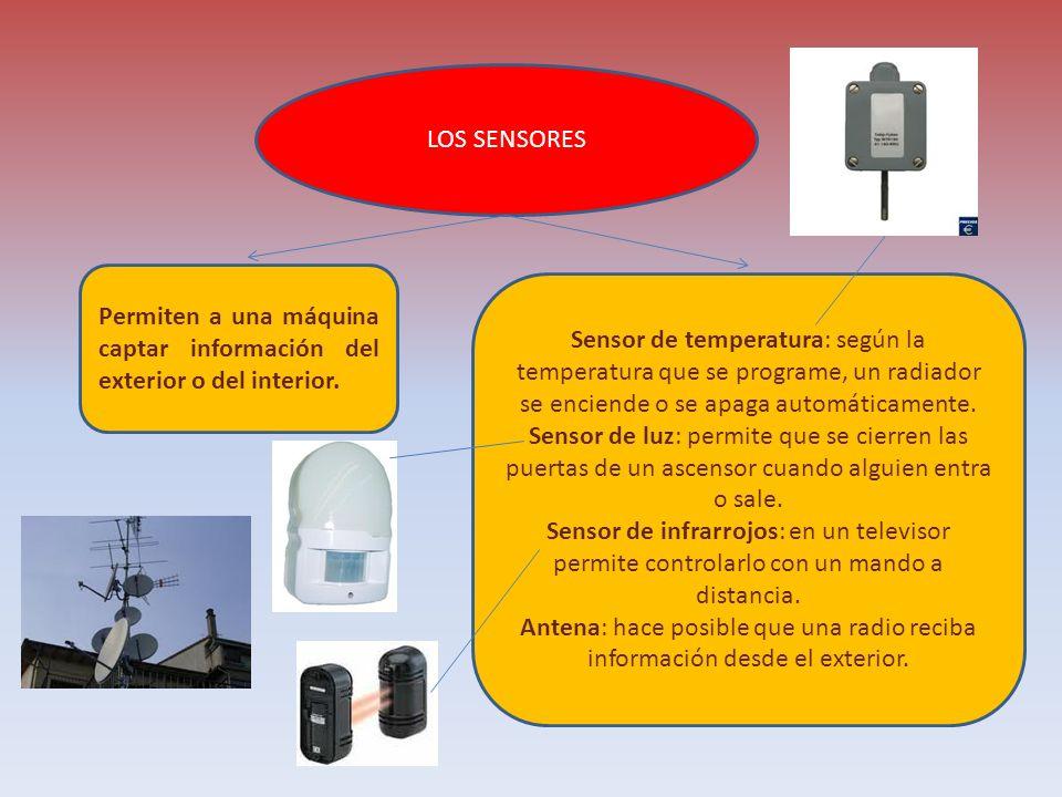 LOS SENSORES Permiten a una máquina captar información del exterior o del interior.