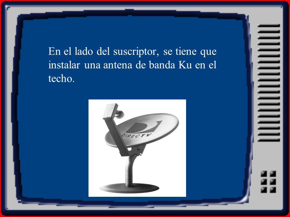 En el lado del suscriptor, se tiene que instalar una antena de banda Ku en el techo.