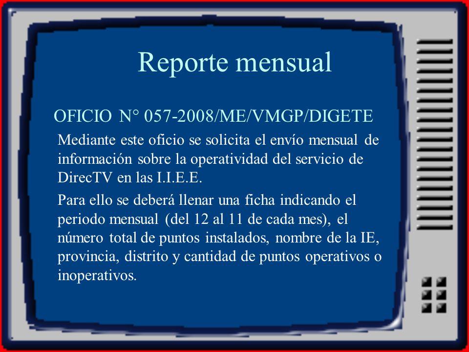 OFICIO N° 057-2008/ME/VMGP/DIGETE