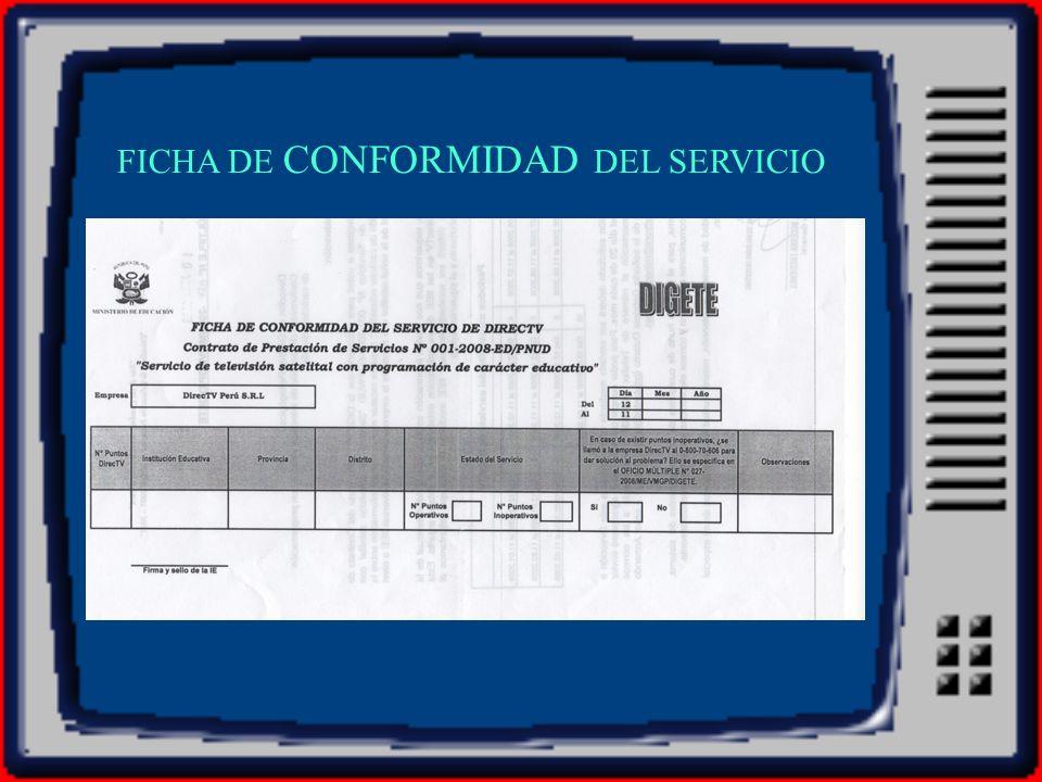 FICHA DE CONFORMIDAD DEL SERVICIO