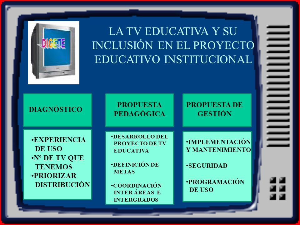 LA TV EDUCATIVA Y SU INCLUSIÓN EN EL PROYECTO EDUCATIVO INSTITUCIONAL