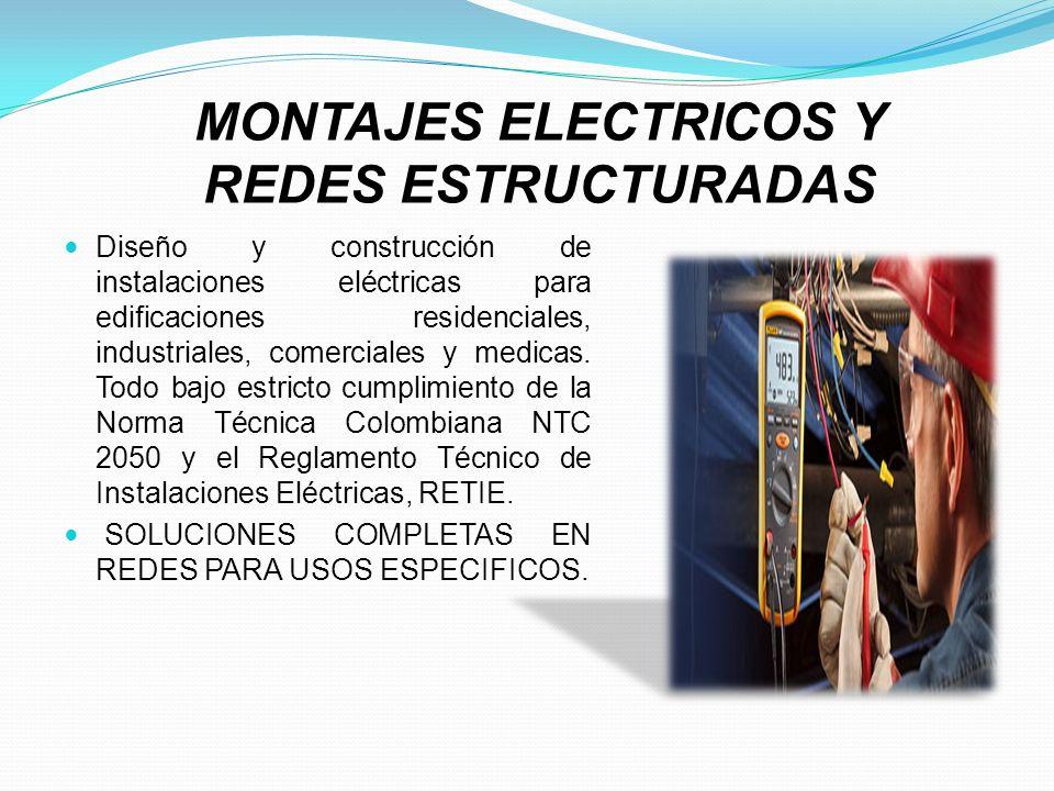 MONTAJES ELECTRICOS Y REDES ESTRUCTURADAS